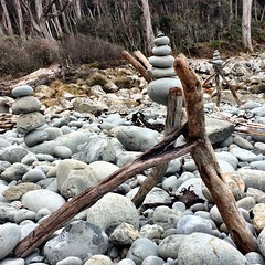 Rock stacks. Fortescue Bay, Tasmania.