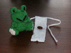 Baby Frog and Poopy (Crazy Snicks) Tags: baby cute green little handmade mommy crochet mini frog diaper yarn tiny poop frogs poo amigurumi knitty