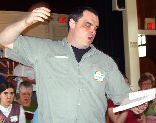 Pic of me leading the 2007 Potomac River Sacred Harp Convention.
