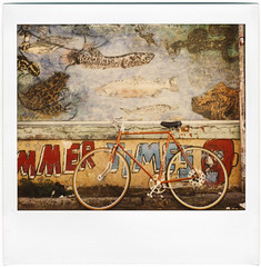 The Paper Crane Auctions, #2 (Winning bid: $47) (rebeccamissing) Tags: bicycle polaroid mural spectra photo2 clarion thepapercraneauctions thescandoesnotnearlydothisshotjustice