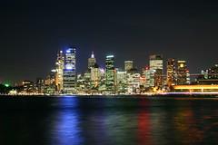 Sydney CBD (phil_h) Tags: city night harbor harbour sydney australia circularquay cbd sidneyharbour milsonspoint
