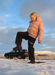 The Giant (Gunnsi) Tags: winter car giant iceland searchthebest daughter reykjavik olga yong geldinganes musso kristn ssang abigfave lfarsfell