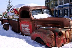 BlueMountain 51 (Royal Olive) Tags: old blue mountain snow ontario canada ski ford up truck village collingwood resort pick
