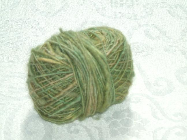 Handspun in green/yellow