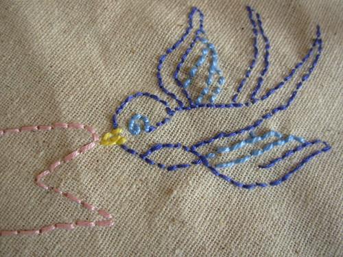 bird quilt detail