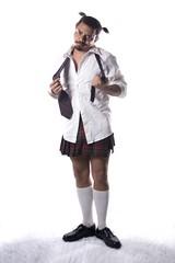 4-10-07 (chrismaverick) Tags: white selfportrait bright skirt explore crossdress mav catholicschoolgirl day242 week15 interestingness7 52weeks 365days ohgodicantbelieveididthis te04073