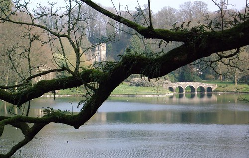 Palladian Bridge and Pantheon view through the trees at Stourhead - Copyright R.Weal 2006