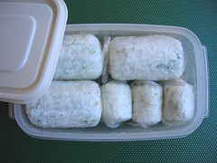 Frozen rice balls