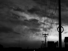 telegraph road (eotiv) Tags: sky bw white storm black clouds dark song telephone wires poles lyric direstraits telegraphroad