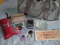 wat's in my bag III (makaseru) Tags: umbrella bag key ipod perfume whatsinmybag voucher handphone thumbdrive
