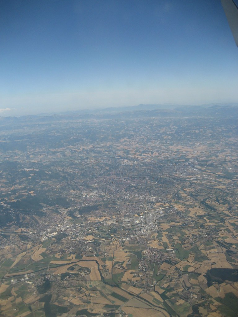 Bird's eye view of Italy