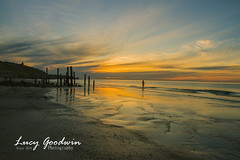 Old Port Willunga (LucygoodwinPhotography) Tags: ocean sea beach oldjetty willunga portwillunga colour color sunset reflection canon summer landscape seaside dusk coast shore water