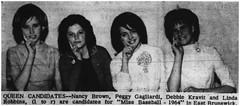 Miss Baseball candidates, 1964 (Ereiss1) Tags: vintage eastbrunswick nj