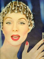 Rhinestone Pinhead (sugarpie honeybunch) Tags: vintage magazine hair advertising 1950s rhinestones revlon hairstyling suzyparker