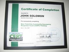 CERT Graduation Certificate