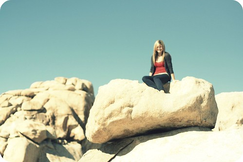 hey, it's me on a rock.