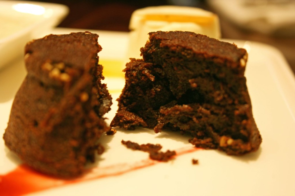Innards of Mini Miso Choco Cake