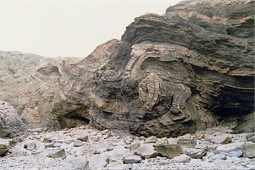 Fractured Overthrust Fold at Broad Haven