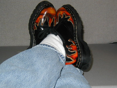 My flame shoes