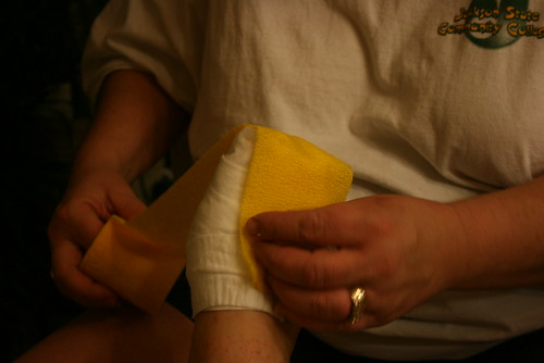 canary yellow bandaging