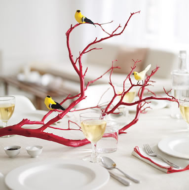 Red Manzanita Bird and Branch (inspiration photo)