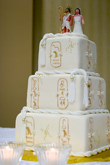 Our Wedding Cake (thepalmtrees) Tags: wedding cake egypt egyptian hieroglyphics charmcitycakes aceofcakes threeblondesandacamera