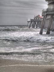 Huntington Pier (afpreda) Tags: ocean beach clouds pier waves huntington hdr