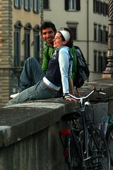 Spring time (migliosa) Tags: light boy girl florence fiume tuscany firenze luc arno toscana ragazza ragazzo