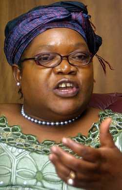 Mrs. Joyce Mujuru, Vice-President of the Republic of Zimbabwe.  She represented Zimbabwe at a United Nations Summit, the G-192, during 2009. by Pan-African News Wire File Photos