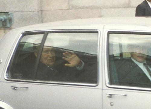 President Nixon at Capital Motorcade