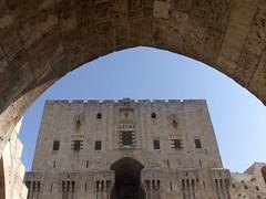 The Citadel - Aleppo (Halab), Syria (LeszekZadlo) Tags: voyage travel architecture buildings citadel muslim worldheritagesite syria fortress cittadella islamic halab ph619 podróż