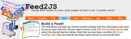 Feed2JS - Build