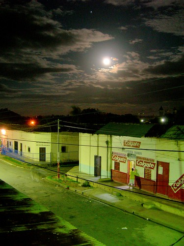 The Moon over Calle Arsenal
