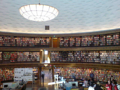 Stockholm City Library (photo). Another pic I have just placed in the