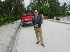 Dennis - a Aussie working in Kiribati took me around in his pick up, we also stayed at the same Hotel in Betio.