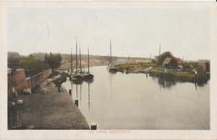 Ansichtkaart - De Linge, Gorinchem (Uitg. onbekend) (Barry van Baalen) Tags: gorinchem ansicht ansichtkaart postcard river rivier riverview riviergezicht boats boten boot vintage 1928