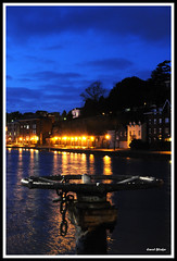 """Exeter Quay (Frog n fries) Tags: sky water night reflections river lights exeterquay colourartaward """"solofotos"""" strangewheelthingy"""