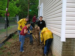 Interfaith Conference volunteers help with a Habitat project (by: Interfaith Conference of Metro Washington)