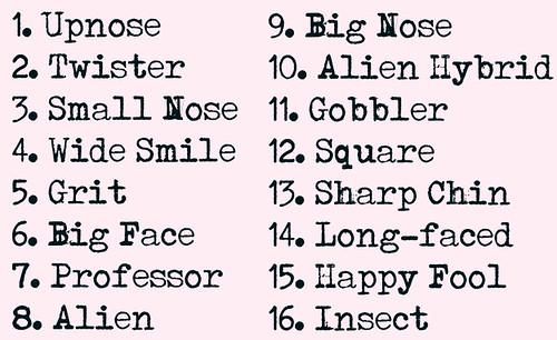 face warp list