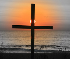 God's New Day (William  Dalton) Tags: ocean sunrise easter religious cross religion explore crucifix atlanticocean oceangrove crucifixes explore26 eastersunrise oceangrovecross oceangrovecrucifix crucifixsunrise godsnewday