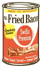 Swift's Premium Pre-Fried Bacon (Mark 2400) Tags: food bacon canned premium swifts regrettable prefried
