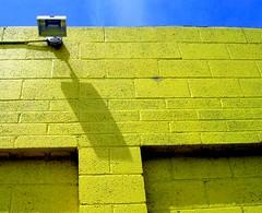 Yellow Wall Light (See El Photo) Tags: light shadow 15fav yellow wall nice bluesky 1f faved