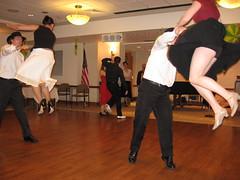 Double Frog Hop (avsfan1321) Tags: people usa unitedstates dancing unitedstatesofamerica skirt swing swingdancing skirts aerials lehigh zootsuitriot steelcityswingers froghop
