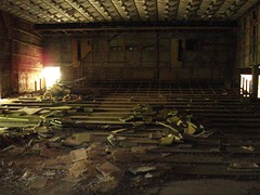 Prypiat Theater - Chernobyl (mikestuartwood) Tags: europe power theatre radiation nuclear ukraine radioactive powerplant seating easterneurope nuclearpower chernobyl alienation chornobyl prypiat prypjat pyrpiat pripjat