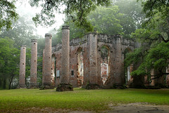 Misty Morning Sheldon Church Ruins (Sco C. Hansen) Tags: wedding mist church beauty fog ruins southcarolina historic weddings d100 beaufort sheldon lowcountry yemassee oldsheldonchurch beaufortcounty princewilliamsparish