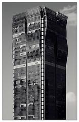 waves on glass (staffh) Tags: china city urban bw white black building tower skyline architecture facade skyscraper blackwhite shanghai wave staff metropolis tall  shanghaiist securities puxi haitong superbmasterpiece haitongsecuritiesbuilding haitongsecuritiesplaza