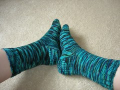 Blue Colinette socks 4