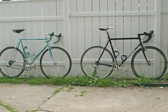 Which one stays and which one goes? (gustavosal) Tags: bike bicycle steel bianchi gunnar lugged elos 60cm columbustubing reynoldstubing gunnarbike gunnarroadie