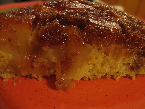 Pineapple Upside Down Corn Cake
