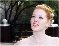 melody (TexasValerie) Tags: wedding portrait woman face bride redhead melody bridal